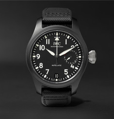 IWC SCHAFFHAUSEN - Pilot's TOP GUN 46mm Ceramic and Leather Watch