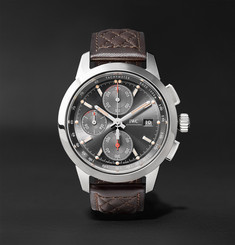 IWC SCHAFFHAUSEN Ingenieur Chronograph Edition Rudolf Caracciola 42mm Stainless Steel and Leather Watch