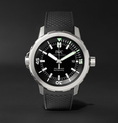 IWC SCHAFFHAUSEN - Aquatimer Automatic 42mm Stainless Steel and Rubber Watch