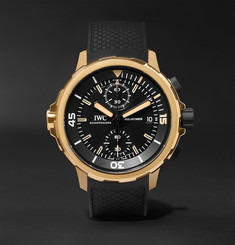 IWC SCHAFFHAUSEN - Aquatimer Expedition Charles Darwin Chronograph 44mm Bronze and Rubber Watch