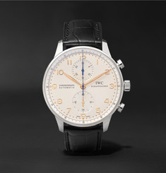 IWC SCHAFFHAUSEN - Portugieser Chronograph 40.9mm Stainless Steel and Alligator Watch