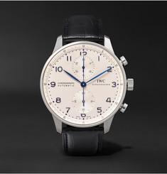 IWC SCHAFFHAUSEN - Portugieser Chronograph 41mm Stainless Steel and Alligator Watch