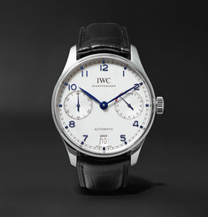 IWC SCHAFFHAUSEN - Portugieser Automatic 42.4mm Stainless Steel and Alligator Watch