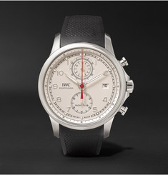 IWC SCHAFFHAUSEN - Portugieser Yacht Club Chronograph 43.5mm Stainless Steel and Rubber Watch