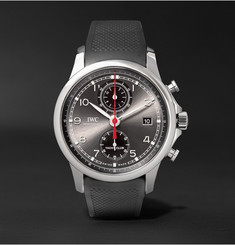 IWC SCHAFFHAUSEN Portugieser Chronograph 43.5mm Yacht Club Stainless Steel and Rubber Watch
