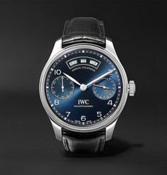 IWC SCHAFFHAUSEN - Portugieser Annual Calendar 44.2mm Stainless Steel and Alligator Watch