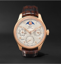 IWC SCHAFFHAUSEN Portugieser Perpetual Calendar 44mm Red Gold and Alligator Watch