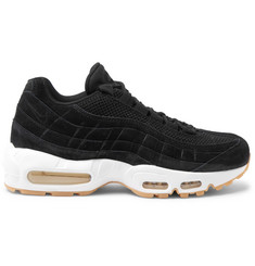 Nike Air Max 95 Mesh-Trimmed Suede Sneakers