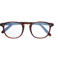 Kingsman + Cutler and Gross D-Frame Tortoiseshell Acetate and Rose Gold-Tone Optical Glasses