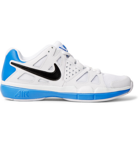 Nike  AIR VAPOR ADVANTAGE FAUX LEATHER AND MESH TENNIS SNEAKERS