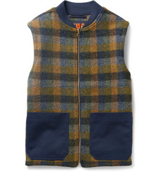 The Workers Club Checked Wool Gilet