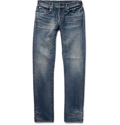The Workers Club - Slim-Fit Washed Selvedge Denim Jeans