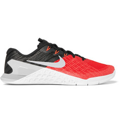 Nike Training Metcon 3 Textured-Mesh and Rubber Sneakers