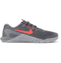 Nike Training Metcon 3 Mesh and Rubber Sneakers