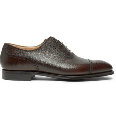 George Cleverley Adam Pebble-Grain Leather Oxford Brogues