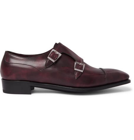 Anthony Cleverley Burnished-leather Loafers - NavyGeorge Cleverley E4squbj