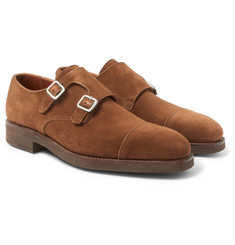 George Cleverley - Thomas Suede Monk-Strap Shoes