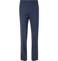 Kingsman - Harry's Blue Pinstriped Wool Suit Trousers