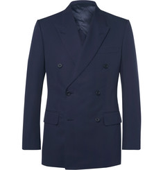 Kingsman Harry's Blue Double-Breasted Cotton-Twill Suit Jacket