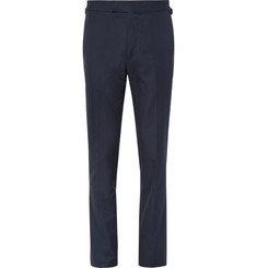 Kingsman Blue Harry Cotton-Twill Suit Trousers
