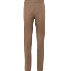 Kingsman Brown Eggsy Slim-Fit Cotton-Twill Suit Trousers