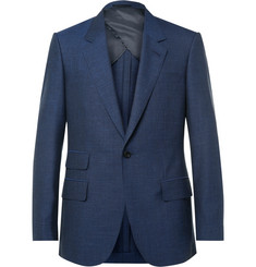 Kingsman Blue Eggsy Wool, Silk, Mohair and Linen-Blend Suit Jacket