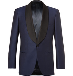 Kingsman Blue Slim-Fit Faille-Trimmed Wool Tuxedo Jacket