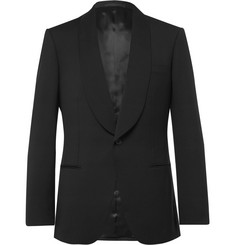 Kingsman Eggsy's Black Wool and Mohair-Blend Tuxedo Jacket