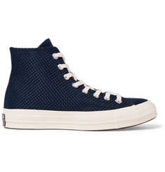 Converse 1970s Chuck Taylor All Star Suede-Trimmed Woven High-Top Sneakers