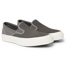 Converse - Deck Star 67 Suede and Canvas Slip-On Sneakers