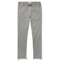 Remi Relief Slim-Fit Cotton-Blend Twill Drawstring Trousers