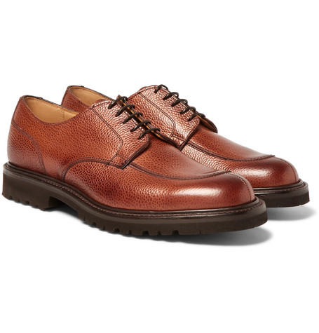 CHEANEY CHISWICK PEBBLE-GRAIN LEATHER DERBY SHOES