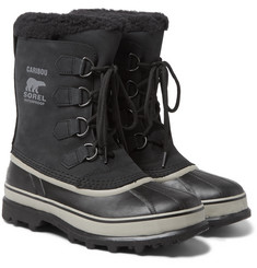 Sorel Caribou Faux Shearling-Trimmed Waterproof Nubuck and Rubber Snow Boots