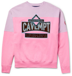 Cav Empt Autohypnotic Appliquéd Loopback Cotton-Jersey Sweatshirt