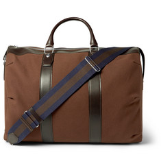 Dunhill - Kempton Leather-Trimmed Canvas Holdall