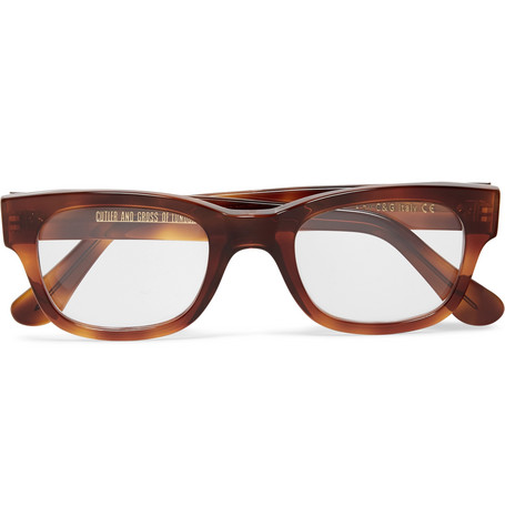 cutler and gross male cutler and gross 2001 ltd vintage dframe tortoiseshell acetate optical glasses brown
