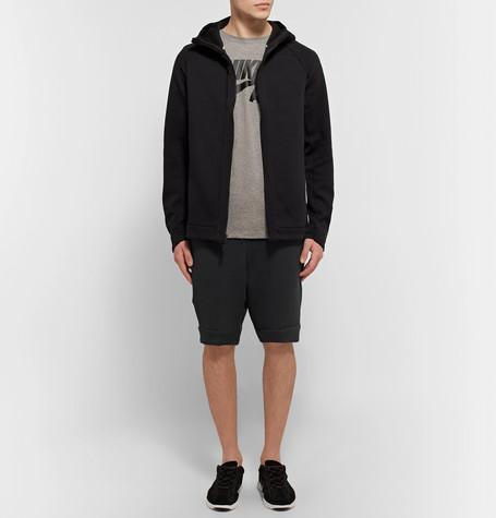 NIKE Slim-Fit Tapered Cotton-Blend Tech Fleece Shorts