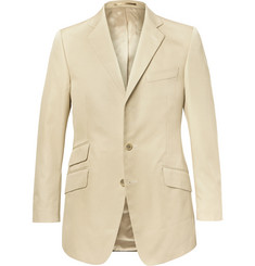 Cordings Beige Slim-Fit Cotton-Drill Blazer