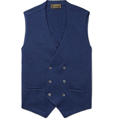 Cordings Double-Breasted Knitted Virgin Wool Waistcoat