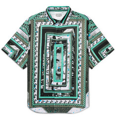 Cav Empt Oversized Printed Cotton-Voile Shirt