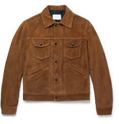 Sandro Slim-Fit Suede Jacket