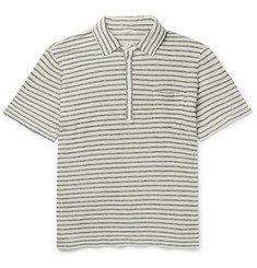 Massimo Alba - Wembley Striped Linen Polo Shirt