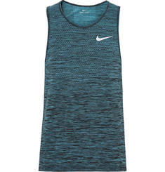 Nike Running - Mesh-Panelled Space-Dyed Dri-FIT Tank Top