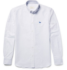 Maison Kitsuné Slim-Fit Button-Down Collar Striped Cotton Oxford Shirt