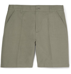 A.P.C. - Lawrence Slim-Fit Cotton and Linen-Blend Twill Shorts