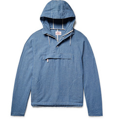 Battenwear - Linen and Cotton-Blend Chambray Hooded Anorak