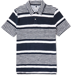 NN07 Quince Striped Cotton-Terry Polo Shirt