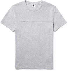 NN07 Corky Slim-Fit Mélange Cotton-Jersey and Piqué T-Shirt