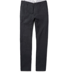 NN07 New Simon Slim-Fit Tapered Linen Trousers