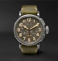 Zenith Heritage Pilot Ton-Up 45mm Stainless Steel and Nubuck Watch